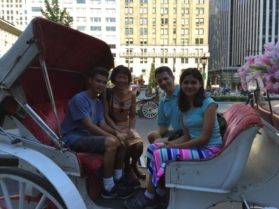 Ready for a carriage ride (photo by our carriage driver).