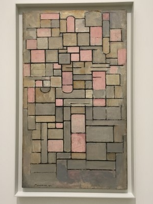 Composition 8 (oil on canvas), 1914, by Piet Mondrian.