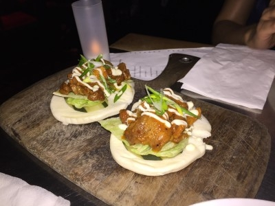 We ended up walking several blocks down to the Ugly Kitchen, an Asian fusion and Filipino cuisine gastropub at 103 1st Ave, New York, NY 10003, was noisy but we feasted on its signature spicy pork buns (marinated pork in a soft milk bun with lettuce, house sauce, and house brined pickles.