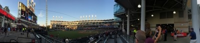 Pano view of Progressive Field.