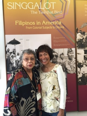 Anita Bautista and me. Anita helped me ensure that my Stockton sections of my novel were accurate.