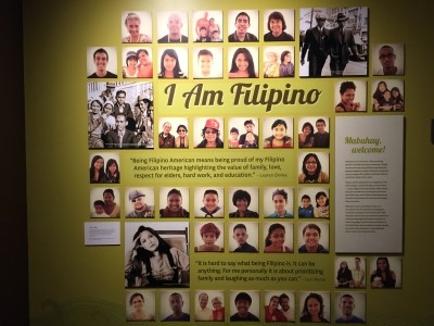 One room is dedicated to Filipino Americans.