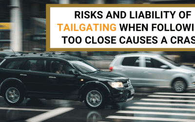 Risks and Liability of Tailgating When Following Too Close Causes a Crash