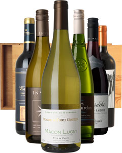 Dinner Party Six in Wood 6 x 75cl Bottles