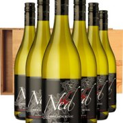 The Ned Sauvignon Blanc Six Bottle Wine Gift in Wood 6 x 75cl Bottles