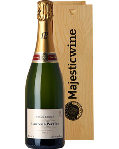 Laurent-Perrier Brut Single Bottle Champagne Gift in Wood