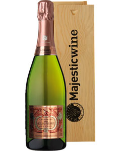 Oeil de Perdrix Single Bottle Champagne Gift in Wood