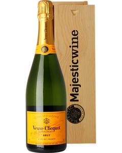 Veuve Clicquot Single Bottle Champagne Gift in Wood