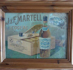 1920's Advert J & F Martell Cognac Framed