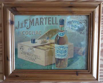 1920's Advert J & F Martell Cognac Framed