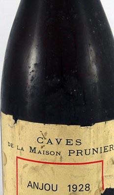 1928 Anjou 1928 Caves de la Maison Prunier