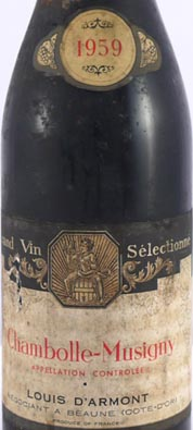1959 Chambolle Musigny 1959 Louis D'Armont