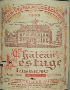 1959 Chateau Lestage 1959 Bordeaux