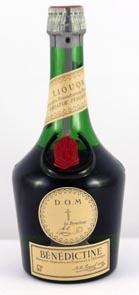 1960's bottling Benedictine Liqueur (1/2 Bottle)