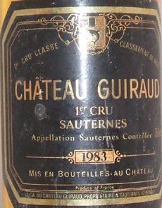 1969 Chateau Guiraud 1969 1er Grand Cru Classe Sauternes