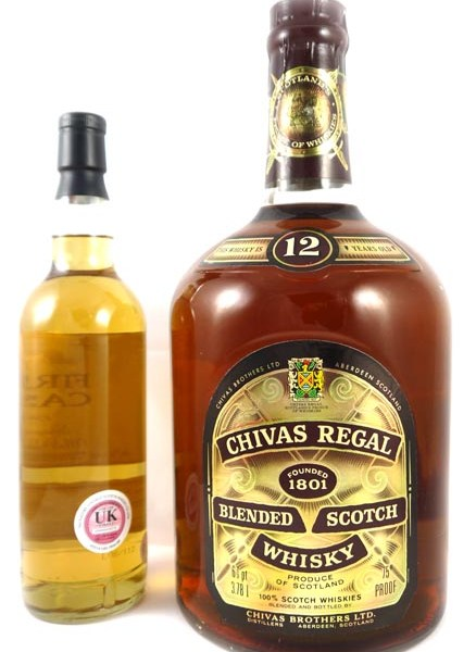 1970's Chivas Regal 12 Year Old Belnded Scotch Whisky (1970's) 6 2/3 pints/3.78 Litre
