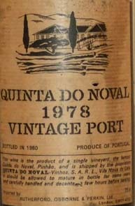 1978 Quinta Do Noval Vintage Port 1978