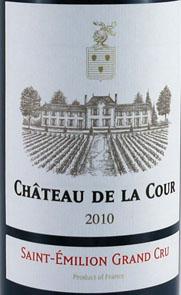 2010 Chateau De la Cour 2010 St Emilion Grand Cru (6 bottles)