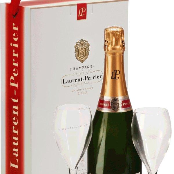 Laurent Perrier - Brut L-P Twin Flute Gift Pack 75cl Bottle