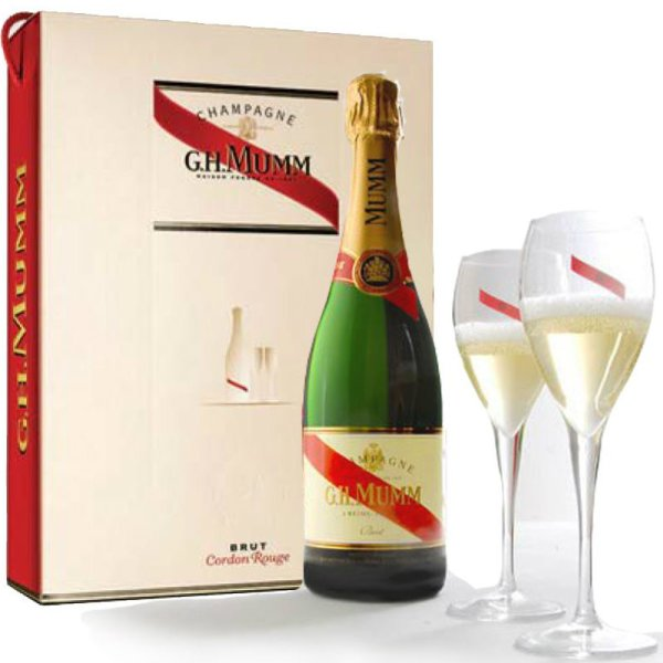 Mumm - Cordon Rouge Flute Set 75cl Bottle