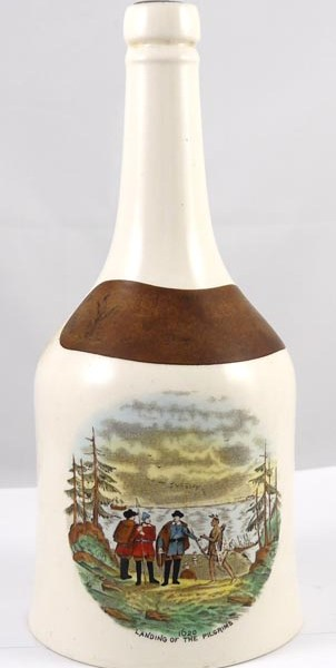 Vintage Hawker Liqueur Sloe Gin Ceramic Bottle Spode Mayflower Plymouth Decanter