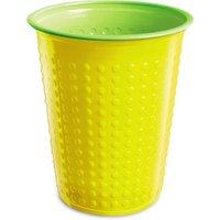 Bicolor Cups Yellow/Green 7oz / 210ml (Sleeve of 40)