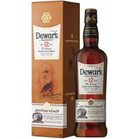 Dewars - 12 Year Old Double Aged 70cl Bottle