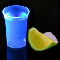 Econ Neon Blue Polystyrene Shot Glasses CE 1.25oz / 35ml (Case of 100)