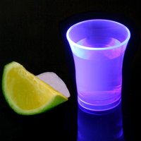 Econ Neon Purple Polystyrene Shot Glasses CE 0.9oz / 25ml (Case of 100)