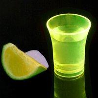 Econ Neon Yellow Polystyrene Shot Glasses CE 0.9oz / 25ml (Case of 100)