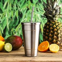 Insulated Stainless Steel Cold Cup with Lid and Straw 16oz / 470ml (Single)