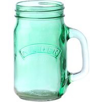 Kilner Green Handled Drinking Jar 14oz / 400ml (Set of 4)