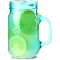 Kilner Handled Drinking Jar Blue 14oz / 400ml (Single)