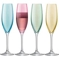 LSA Polka Champagne Flutes 7.9oz / 225ml (Pack of 4)