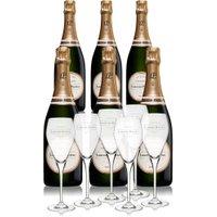 Laurent Perrier - La Cuve Case With 6 Glass Gift Pack 6x 75cl Bottles