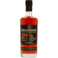 Millstone Distillery - 100 Rye Whiskey 70cl Bottle