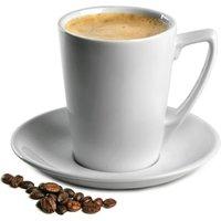 Royal Genware Angled Latte Mugs & Saucers 12.25oz / 350ml (Pack of 6)