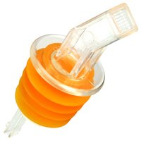 Spill Stop Square Pourer with XL Cork Clear (Case of 12)