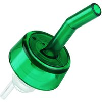 Whisky Freeflow Pourers Collared Green (Pack of 12)