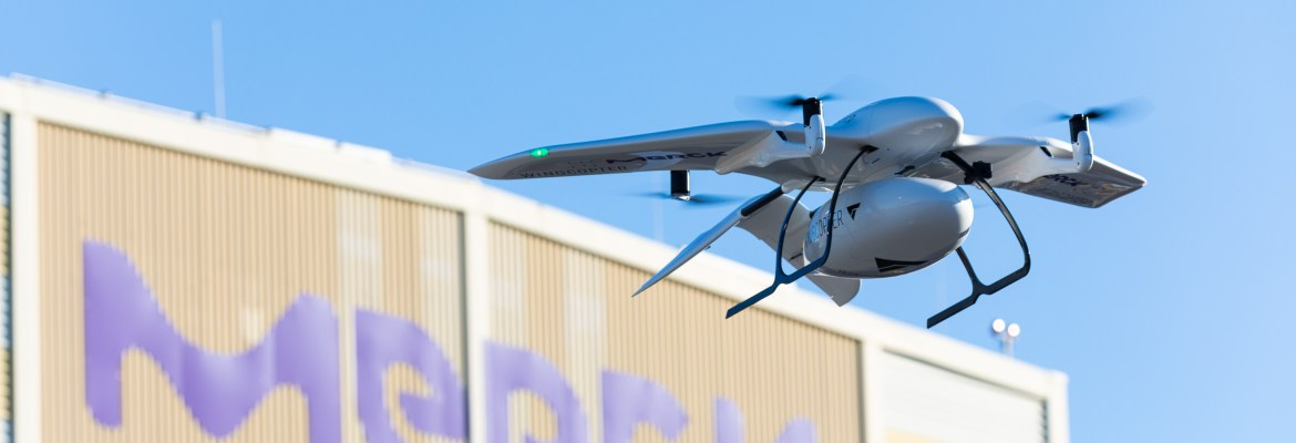 Merck drone delivery