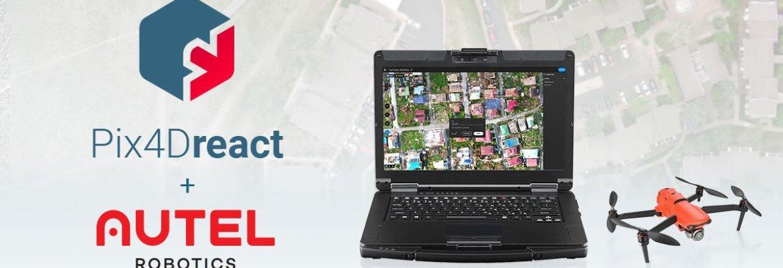 Pix4D partnership Autel Pix4Dreact software Autel Evo II