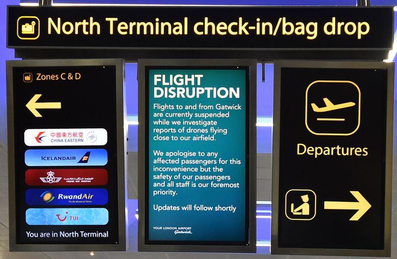 Gatwick drone incident flight disruption delay
