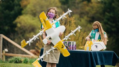 Wing Girl Scout cookies drone delivery