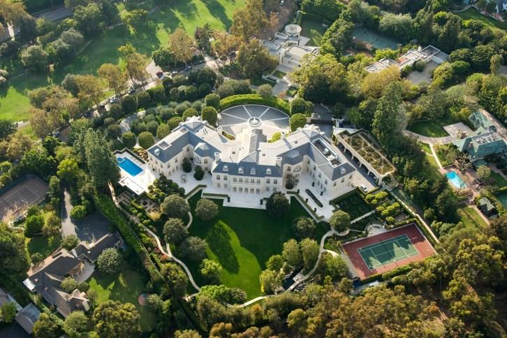Holmby Hills aerial photo mansion Los Angeles Petra Ecclestone, daughter of Formula One billionaire Bernie Ecclestone real estate agents