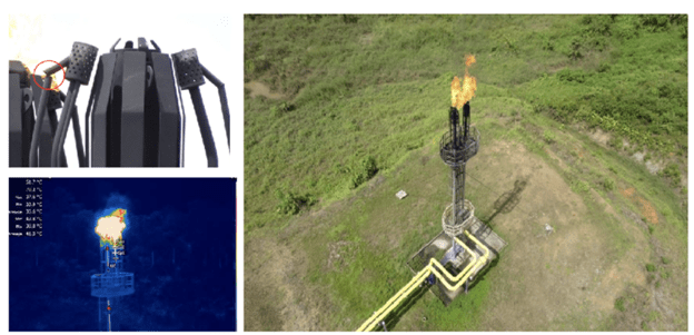 Chevron Terra Drone inspections gas flare stack