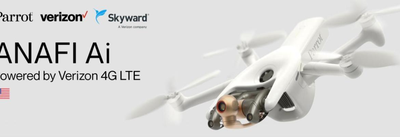 Parrot Verizon 4G LTE network ANAFI Ai Skyward