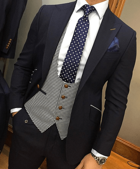 THE DROP  Bespoke suits made for you Dark Navy Suit with