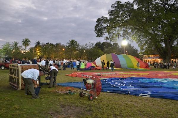 Hot air balloons in Thailand