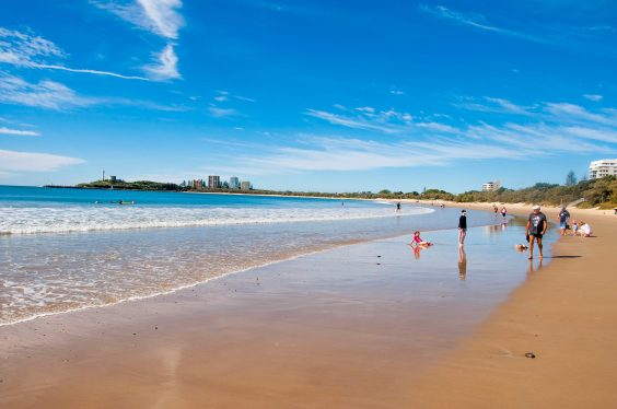 "This is ""home"", the Sunshine Coast's beautiful Mooloolaba Beach."