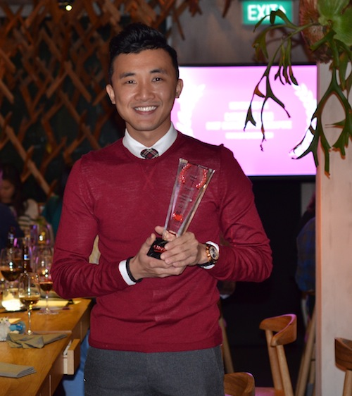 Douglas Ng with his Chowzter award